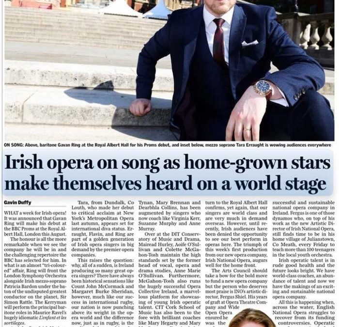 Past pupil Gavan Ring to make his debut at the BBC Proms this Summer