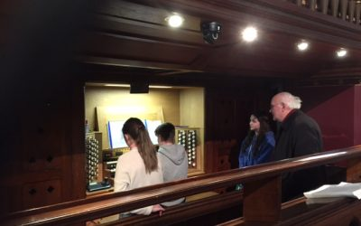 Professor Gerard Gillen fine-tuning our 2018 Feis Ceoil organ competitors – February 2018