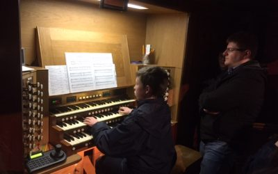 Pipeworks host Organ Masterclass for Schola students in Dublin – January 2018